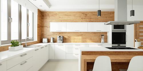 Küchenzeile mit Elektrogeräten und Geschirrspüler und Aufbau Berlin